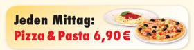 Aktion in der PizzaStube Landshut: Mittagsangebot - Dienstag bis Freitag jede Pizza und jedes Nudelgericht für 6,90 EUR